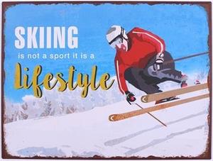 PLÅTSKYLT , SKIING IS NOT A SPORT...