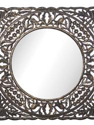 Spegel i svart trä